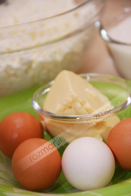 12 Яйца масло творог